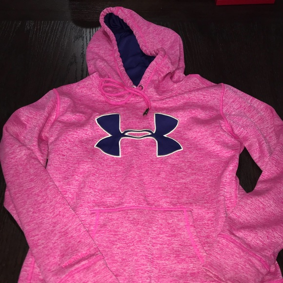 fa24288bb Under Armour Tops   Like New Pink Navy Hoodie   Poshmark